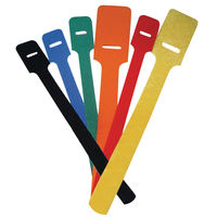 Hook & Loop - Standard Cable Tie - Overall Length 228.6 mm | 9.000 in ; Strap Width 19.1 mm | 0.750 in ; Blue