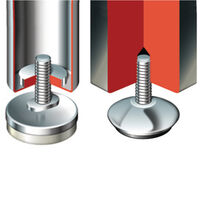 Adjustable Feet - Chrome Capped | Essentra Components