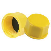 Threaded Sealing Cap - Compatible Thread Standard - BSP ; Overall Diameter - 16.5 mm | 0.65 in ; Overall Height - 15.0 mm | 0.591 in