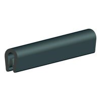 Edge Protector - PVC ; Black ; Overall Width 6.5 mm | 0.256 in ; Overall Height 9.5 mm | 0.374 in