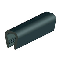 Edge Protector - PVC ; Grey ; Overall Width 13.0 mm | 0.512 in ; Overall Height 15.0 mm | 0.591 in