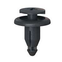 Black Acetal Snap-In Flush Top Push-In Rivet - Type 1; Compatible Hole Diameter 6.15 mm   0.242 in; Compatible Panel Thickness Range 2 - 4.5 mm   0.079 - 0.177 in