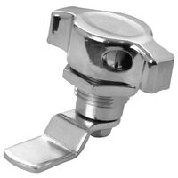 Quarter Turn Latches - Pad lockable - Maximum Grip - 28.5 mm | 1.122 in ; Handle Type - Left Hand Knob ; Finish - Chrome Plated ; Key Type - No Key