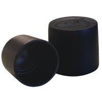 Standard Sizes Pipe Cap - Inside Diameter - 72.6 mm | 2.860 in  Inside Height - 40.1 mm | 1.580 in  Black