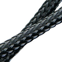 Braided Cable Sleeves Nominal Inside Diameter - 6.0 mm | 0.236 in Compatible Cable Diameter Range - 3.0 - 9.0 mm | 0.118 - 0.354 in Roll Length - 60.9 m | 199.803 ft Black