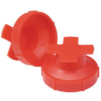Threaded Protection Plug - 10.2 mm ; Push Fit ; LDPE ; Red