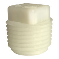 Threaded Protection Plug - 0.687 in ; 3/4-14 ; Nylon ; Natural