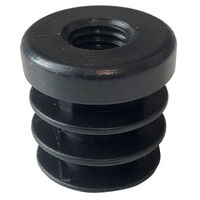 Walking Aid Feet - Rubber - 28.0 mm | 1.102 in  Material - HDPE ; Colour - Black