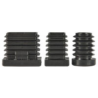 Round Threaded Inserts - Metal - Compatible Outside Tube Diameter - 19.0 mm | 0.748 in ; Insert Height - 20.0 mm | 0.787 in