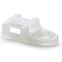 Cable Tie Mount - Natural ; Nylon ; Compatible Cable Tie Width Range2.4 - 4.8 mm | 0.094 - 0.190 in