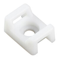 Cable Tie Mount - Natural ; Nylon ; Maximum Compatible Cable Tie Width 7.6 mm | 0.300 in