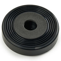 Screw-On Feet - Base Diameter - 50 mm   1.970 in ; Base Height - 12.0 mm   0.472 in ; Base Material - ABS ; Base Shape - Round