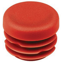 Round Tube Inserts - 19.0 mm | 0.748 in  Material - LDPE ; Colour - Red