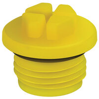 Compatible Thread Standard - BSP Threaded O-ring Plugs - BSP/Gas Threads  Compatible Thread Standard - BSP Overall Diameter - 62.0 mm | 2.441 in Push Fit
