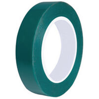 Masking Tape - Green ; Polyester ; Overall Width - 25.0 mm | 0.984 in ; Overall Length - 66.0 m | 216.535 ft ; Continuous Roll