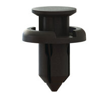 Black PP;Acetal Snap-In Flush Top Push-In Rivet - Type 3; Compatible Hole Diameter 10.0 mm | 0.394 in; Compatible Panel Thickness Range 5.5 - 7 mm | 0.217 - 0.276 in