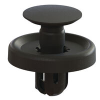 Black Acetal Snap-In Flush Top Push-In Rivet - Type 5; Compatible Hole Diameter 7.2 mm | 0.283 in; Compatible Panel Thickness Range 3 - 4 mm | 0.118 - 0.157 in