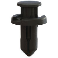 Black Acetal Snap-In Flush Top Push-In Rivet - Type 3; Compatible Hole Diameter 10.0 mm   0.394 in; Compatible Panel Thickness Range 7 - 8 mm   0.276 - 0.315 in