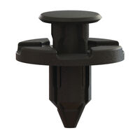 Black Acetal Snap-In Flush Top Push-In Rivet - Type 7; Compatible Hole Diameter 8.0 mm   0.315 in; Compatible Panel Thickness Range 3 - 5 mm   0.118 - 0.197 in