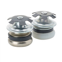 Steel Base Round Insert & Glide - Compatible Outside Tube Diameter - 25.0 mm | 0.984 in ; Insert Height - 16.0 mm | 0.63 in