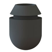 Push Fit Feet - Base Height - 12.0 mm | 0.472 in ;  ; Colour - Black ; Base Material - PVC