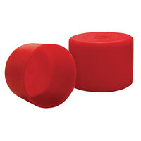 Standard Sizes Pipe Cap - Inside Diameter - 26.5 mm | 1.045 in  Inside Height - 19.1 mm | 0.750 in  Red