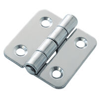 Free Swinging Hinge - Overall Length - 40.0 mm | 1.575 in ; Overall Width - 38.6 mm | 1.52 in ; Material - Stainless Steel ; Number of Mounting Holes - 4