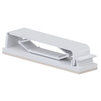 Flat Cable Clamp - Adhesive Mount, Hinged, with Tension