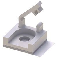 P110131_Wire_Saddle-Mini_Adhesive_Mount_Hinged_Locking_Top_Photo1 | Essentra Components