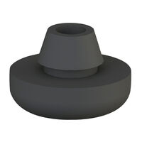 Push Fit Feet - Base Height - 2.0 mm   0.079 in ;  ; Colour - Black ; Base Material - PVC