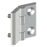 Free Swinging Hinge - Overall Length - 40.0 mm | 1.575 in ; Overall Width - 40.0 mm | 1.575 in ; Overall Thickness - 9.0 mm | 0.354 in ; Number of Mounting Holes - 2